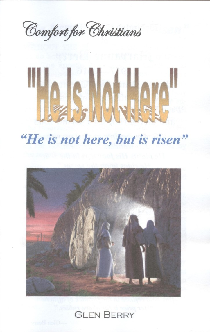 He is not here, cover