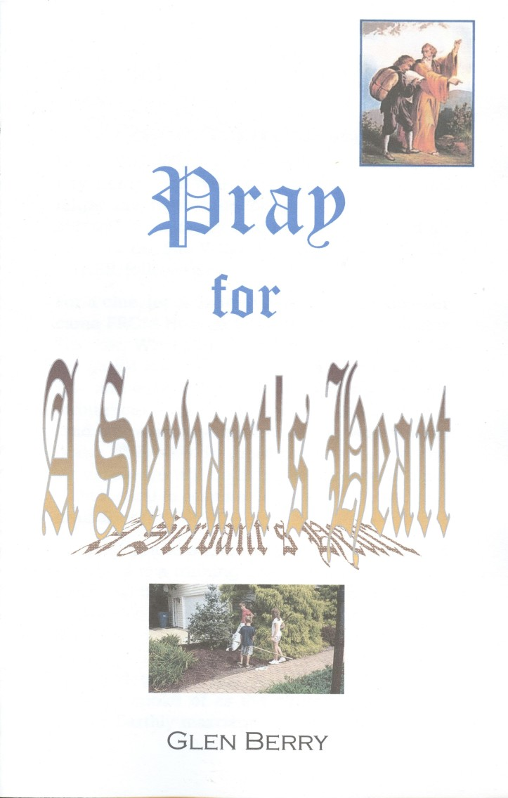 Pray for a servant's heart, cover