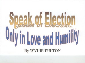 Speak of Election, cover